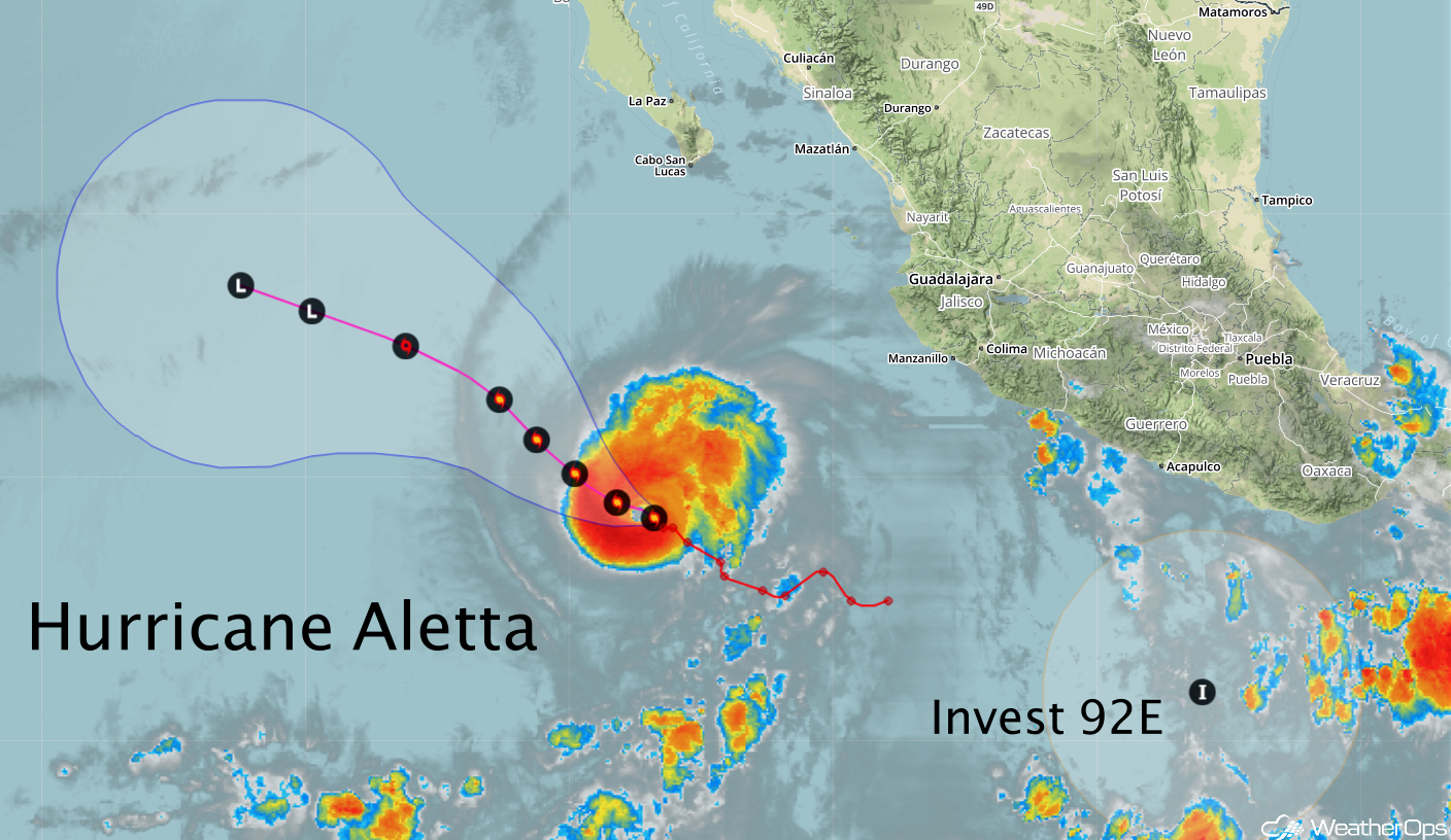 Hurricane Aletta -June 8, 2018
