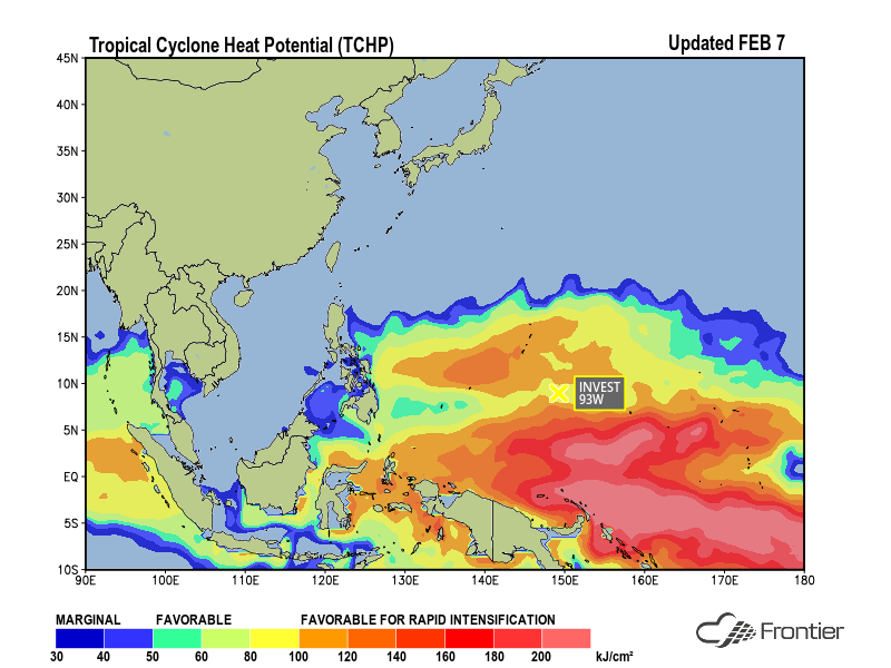 Tropical Cyclone Heat Potential - Feb. 7, 2018