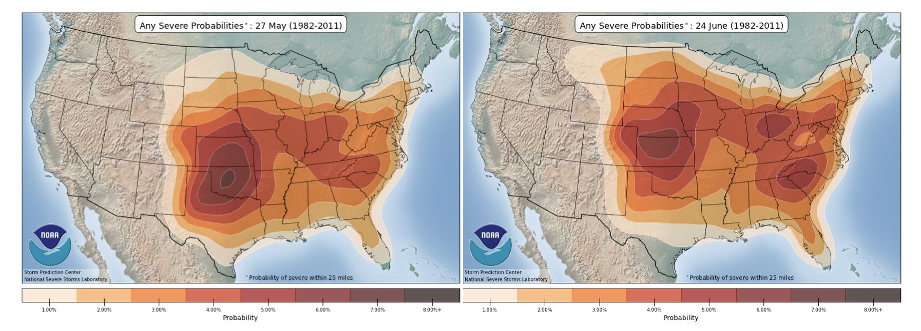 May June Severe Probabilities