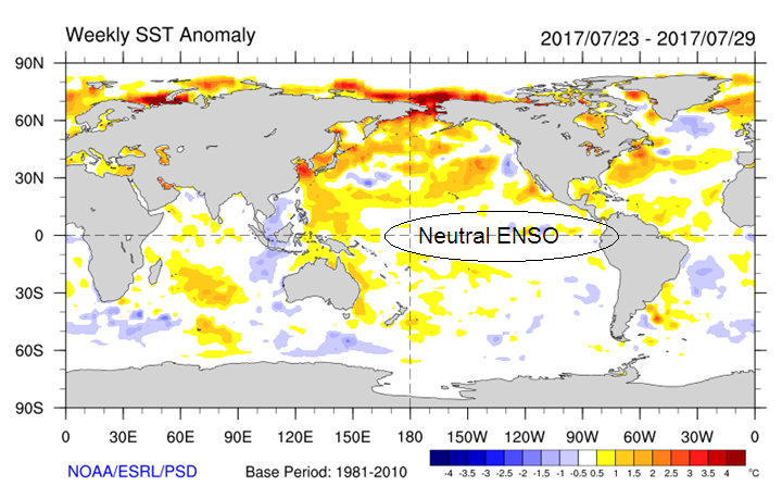 Current SST Anomaly