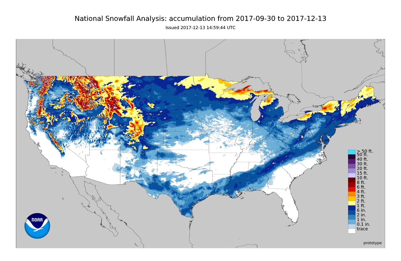 National Snowfall Analysis