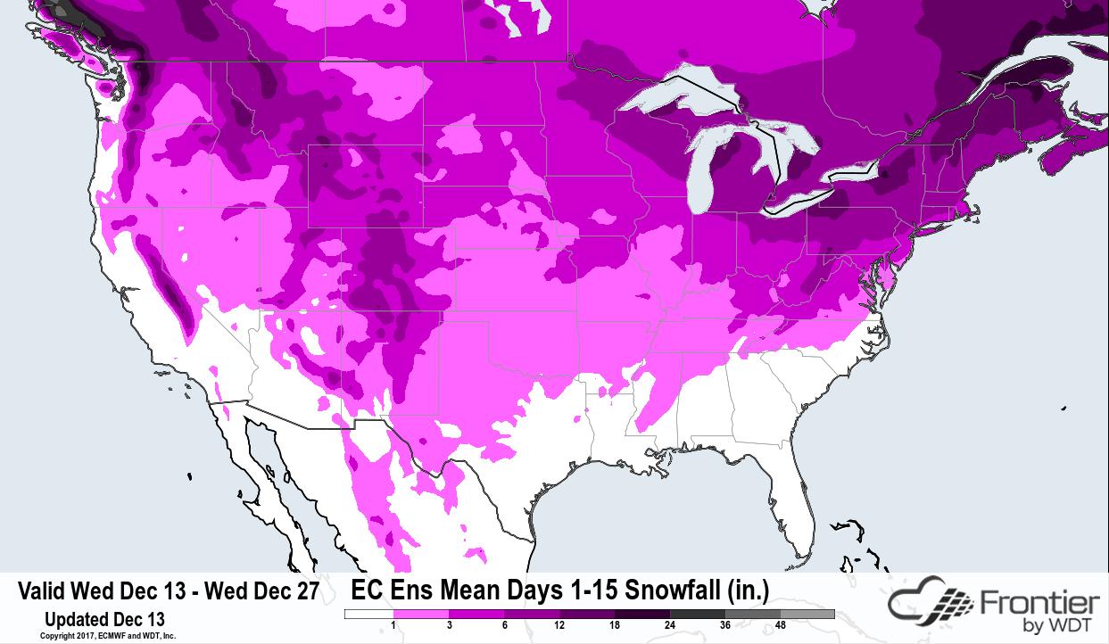 ECMWF Ens Mean Days 1-15 Snowfall