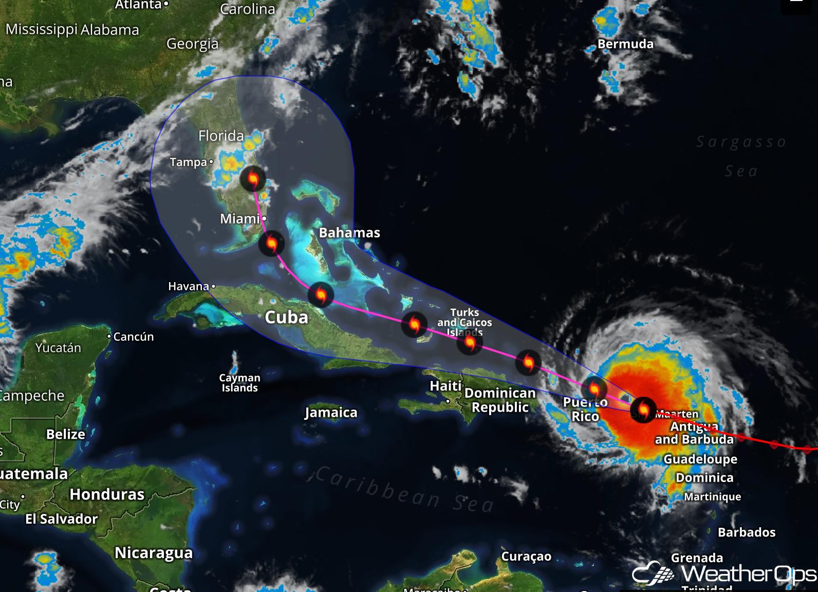 Hurricane Irma Aims for Florida -Sept 6