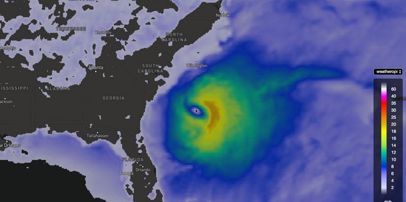 WeatherOps Wind Speed Forecast