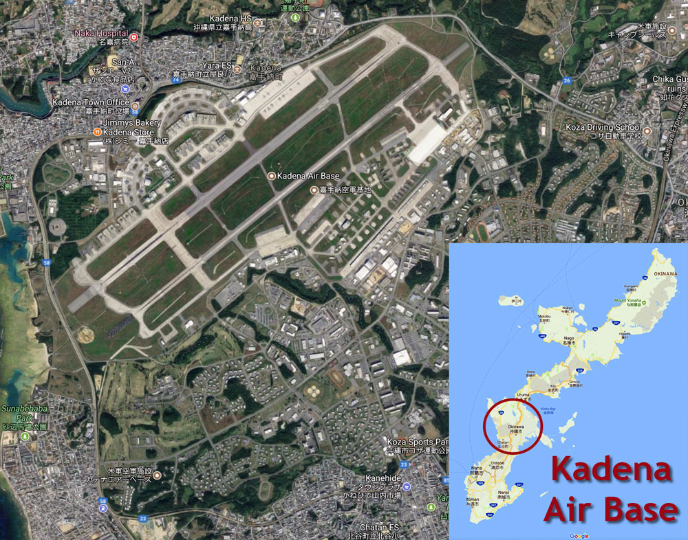 Location of Kadena Air Base
