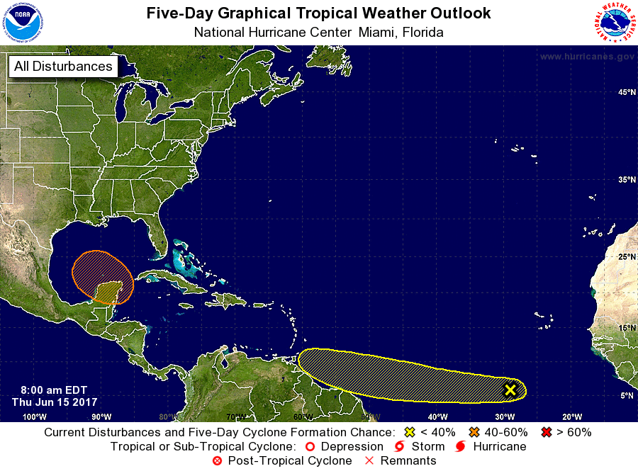 NHC 5-Day Tropical Weather Outlook