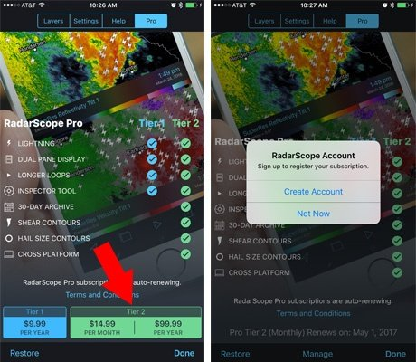 How to Purchase RadarScope Tier 2