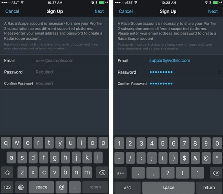 How to Create an Account on RadarScope Tier 2