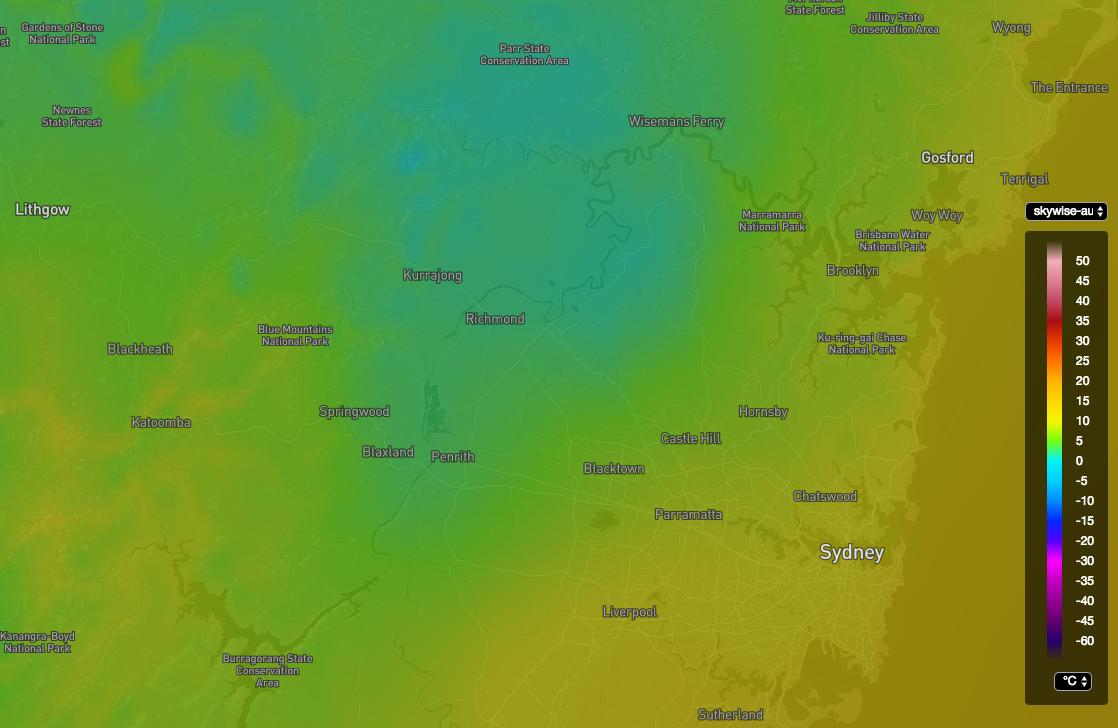 Australian High Resolution Hourly Temperature