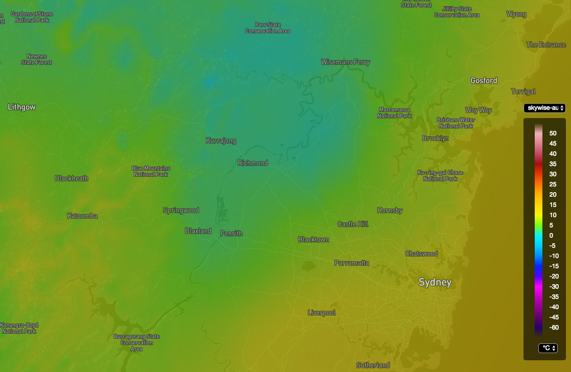 Australian High Resolution Hourly Temperature