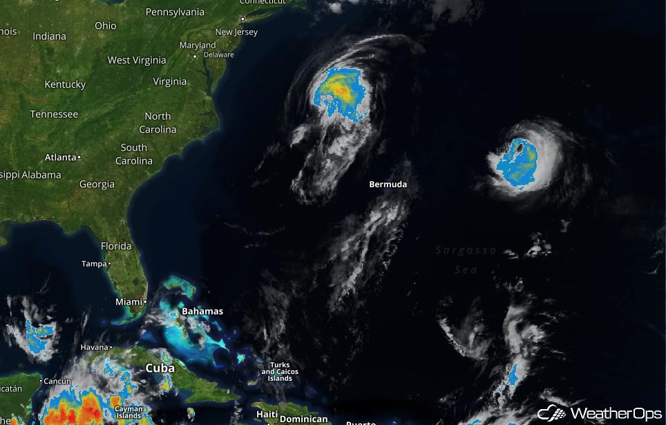 Lee and Maria in the Atlantic Ocean - September 28, 2017