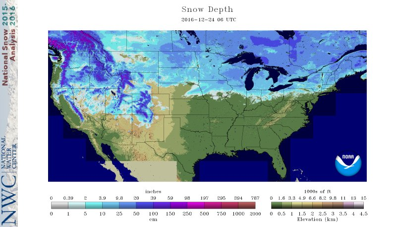 NOAA Snow Cover Map