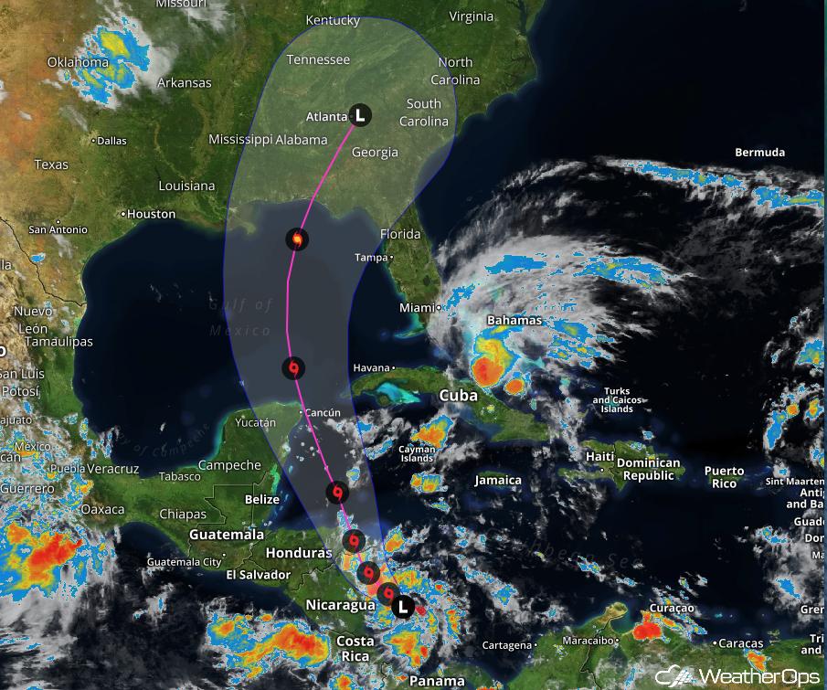 TD 16 Forecast Path - October 4, 2017