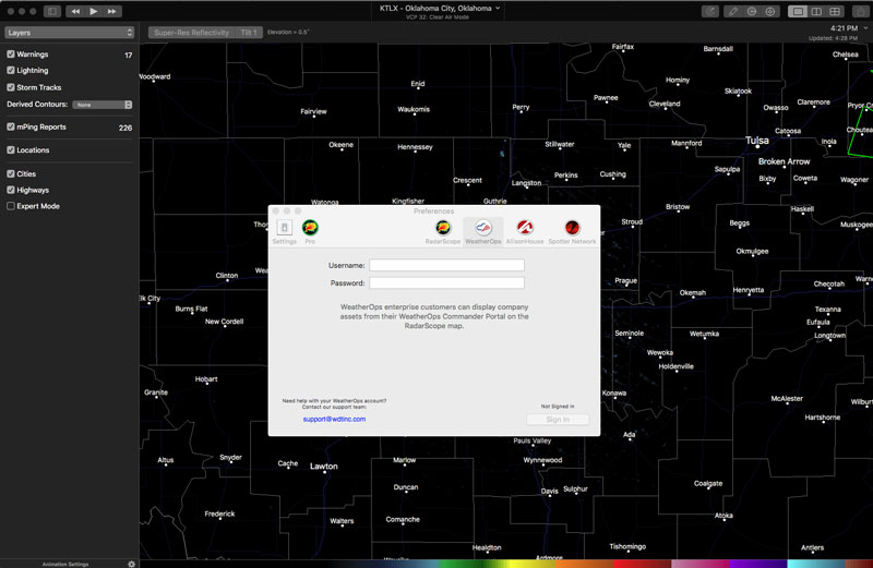 How to Register Your WeatherOps Account on RadarScope for Macs