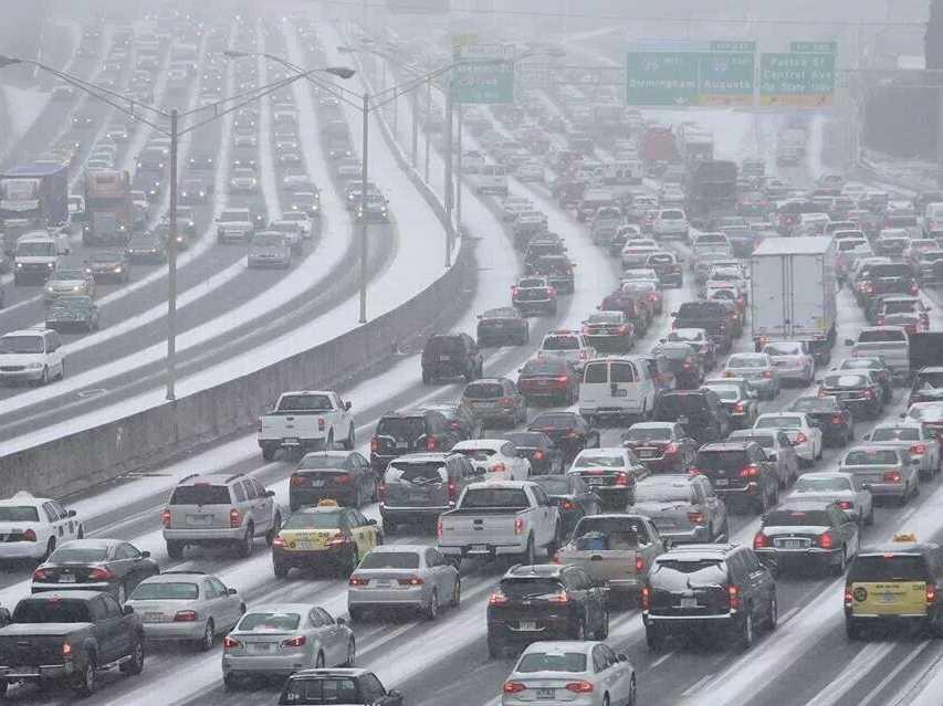 Atlanta snow January 2014