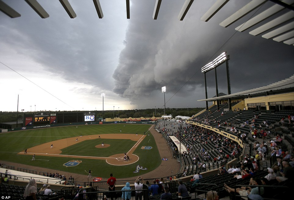 Weather Hazards at Ballpark (Credit: AP)