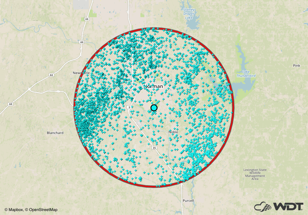 WDT Archive Lightning Data on May 17, 2017
