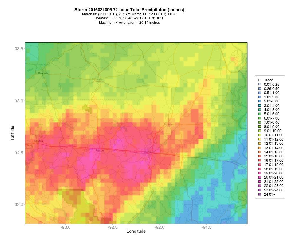 NWS Multisensor Precipitation Estimates 4km QPE product