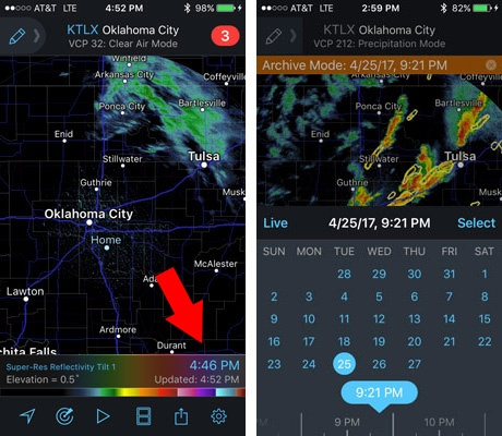 How to find the Archive data on RadarScope Tier 2