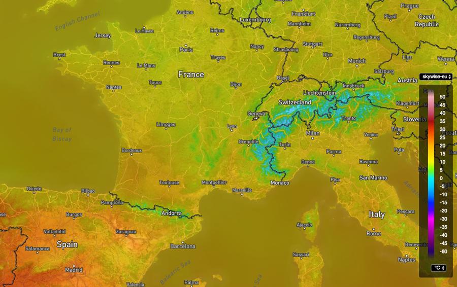 European 1 hour Temperature Analysis