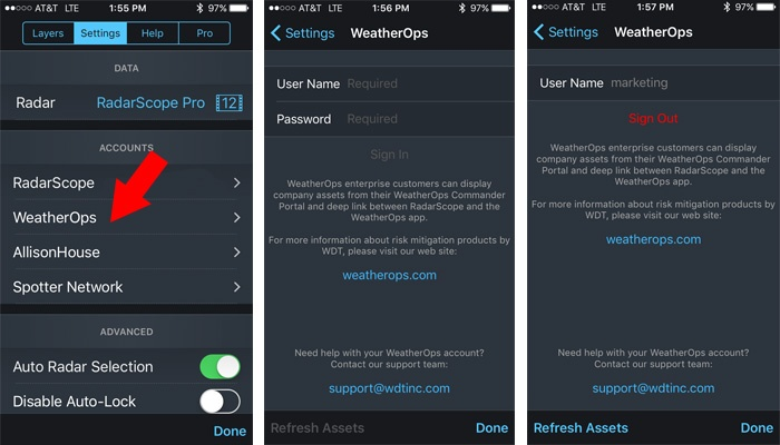 How to Register Your WeatherOps Account in RadarScope