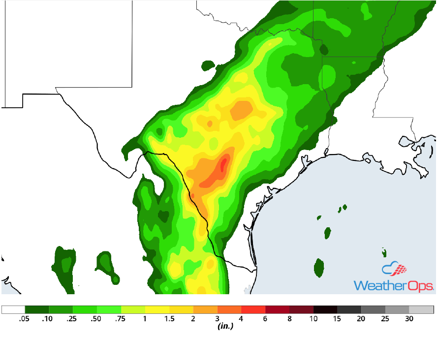 Rainfall Accumulation for Friday, May 4, 2018