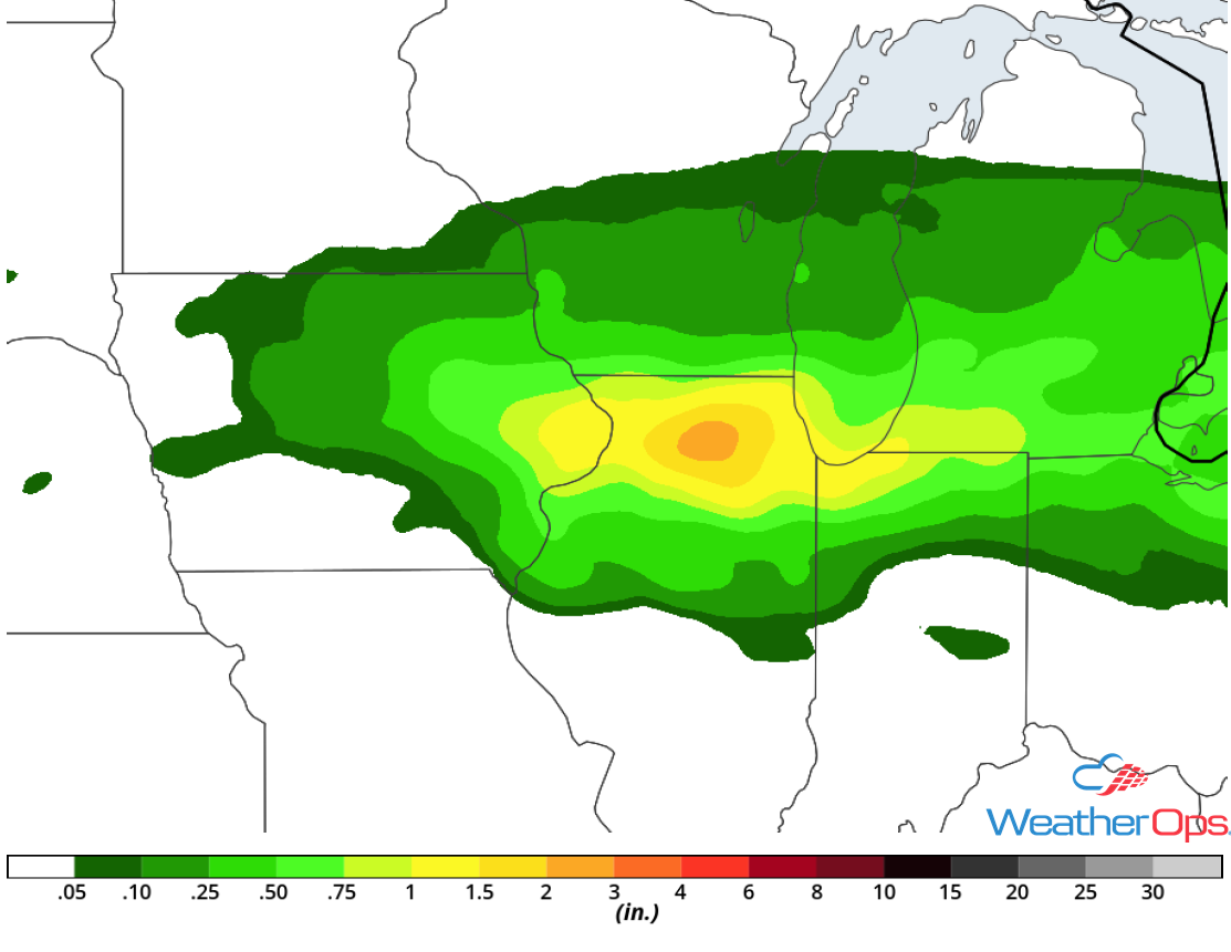Rainfall Accumulation for Saturday, May 12, 2018
