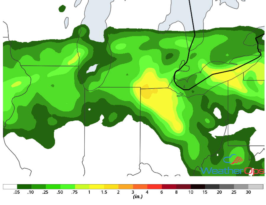 Rainfall Accumulation for Monday, May 14, 2018