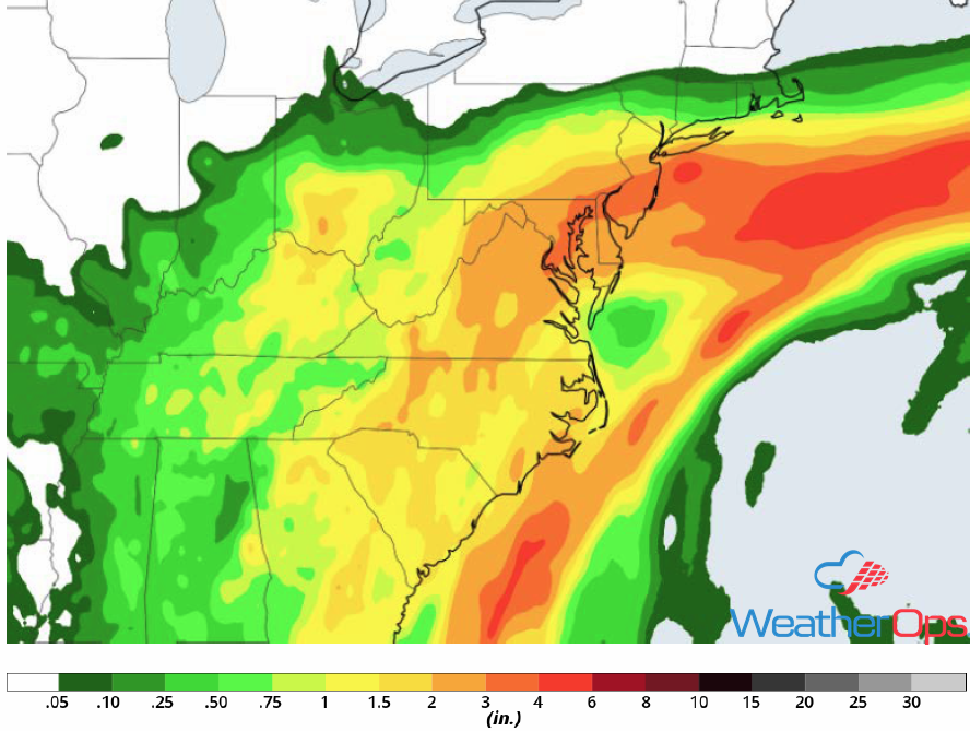 Total Rainfall Accumulation for May 16-18, 2018