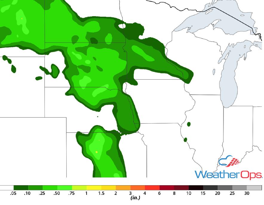 Rainfall Accumulation for Thursday, June 7, 2018