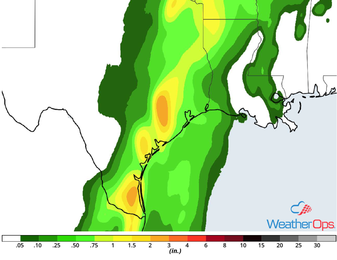 Rainfall Accumulation for Wednesday, June 20, 2018