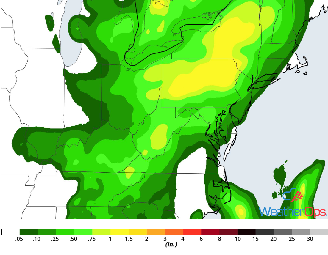 Rainfall Accumulation for Wednesday, June 27, 2018