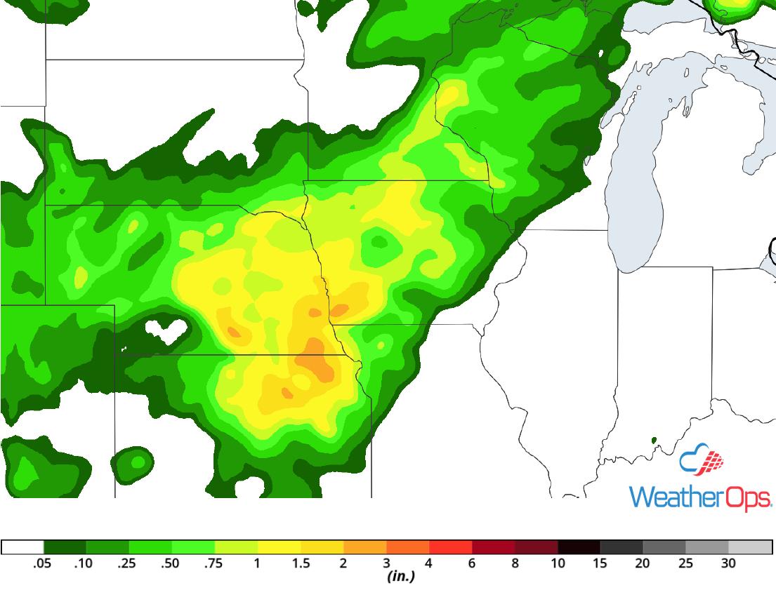 Rainfall Accumulation for Saturday, June 30, 2018