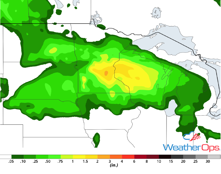 Rainfall Accumulation for Friday,, June 8, 2018
