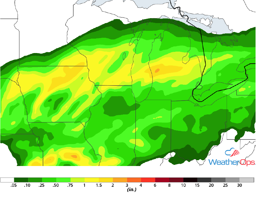 Rainfall Accumulation for Thursday, May 3, 2018