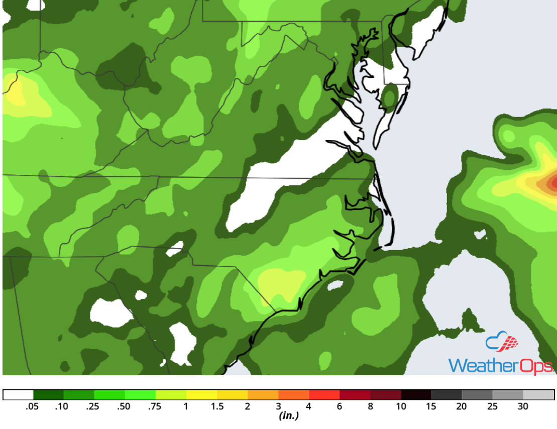 Rainfall Accumulation for Thursday, May 31, 2018