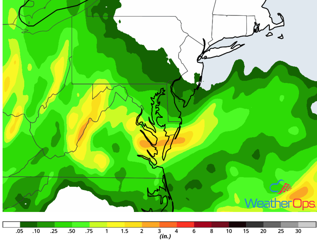 Rainfall Accumulation for Friday, June 22, 2018