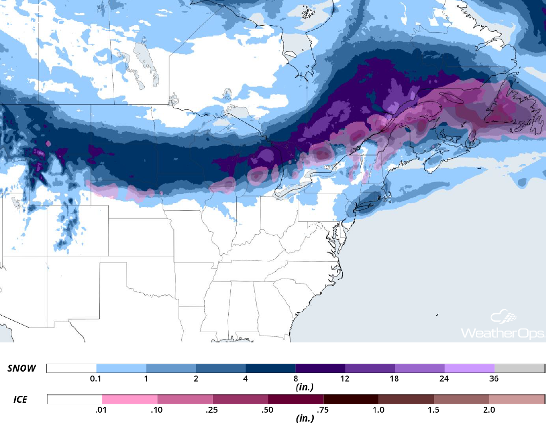 Snowfall Accumulation April 2-4, 2018
