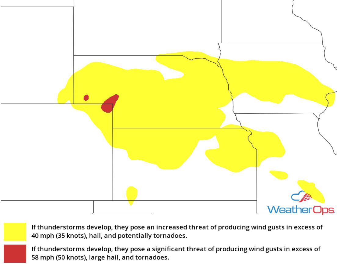 Thunderstorm Risk for Thursday, May 10, 2018