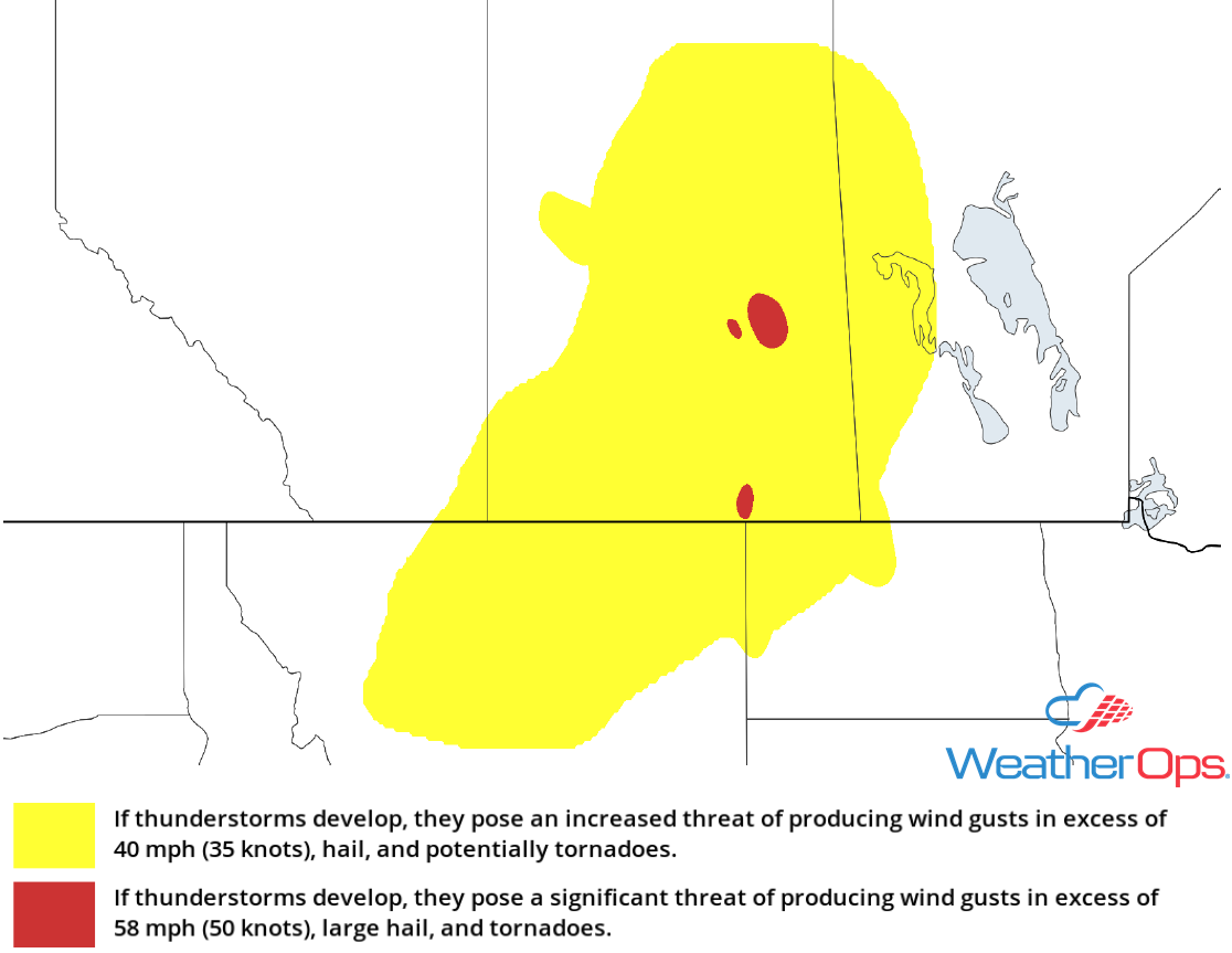 Thunderstorm Risk for Monday, June 4, 2018