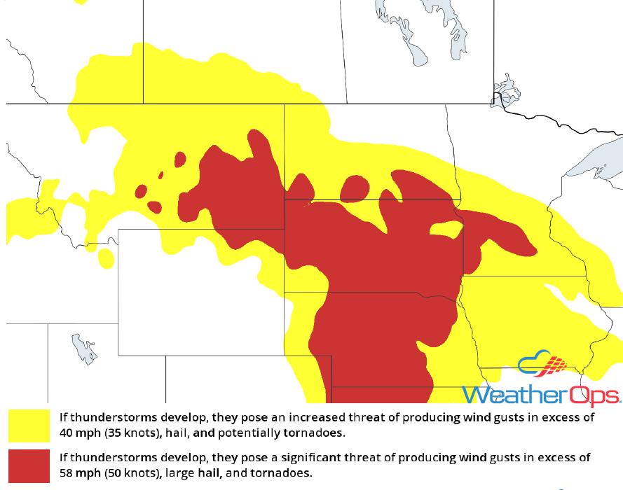 Thunderstorm Risk for Thursday, June 7, 2018
