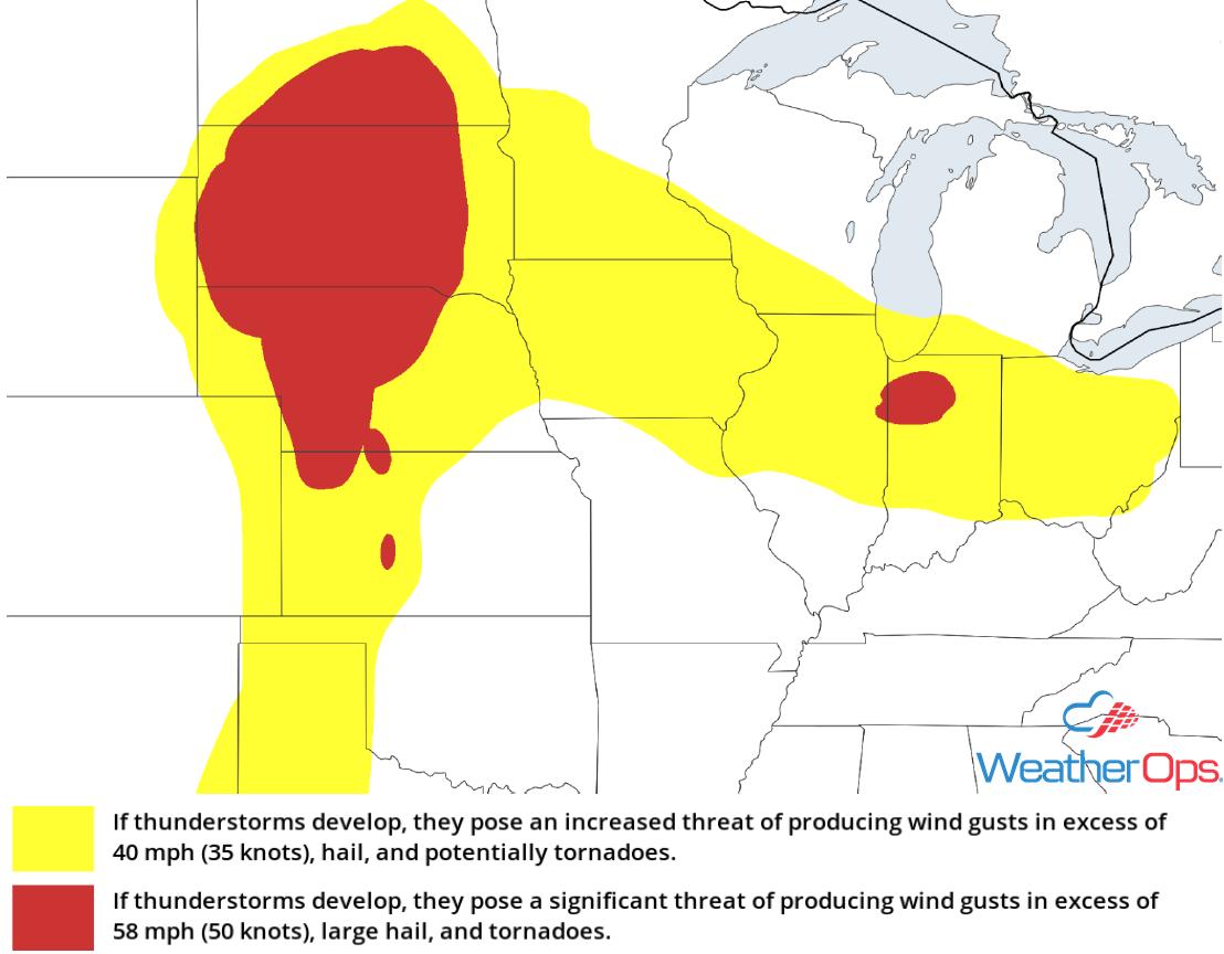 Thunderstorm Risk for Friday, June 8, 2018