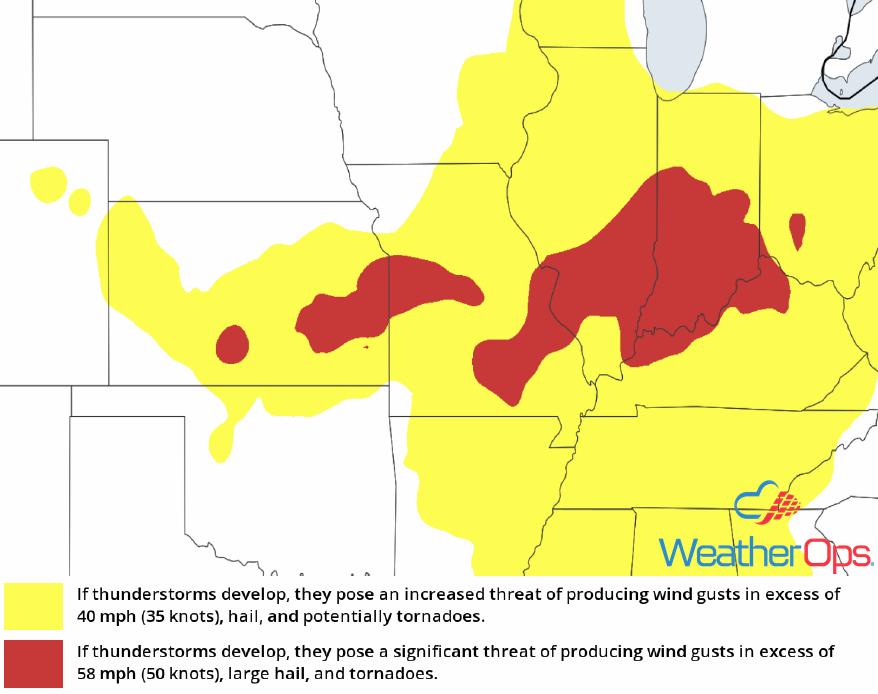 Thunderstorm Risk for Tuesday, June 12, 2018