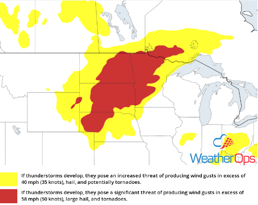 Thunderstorm Risk for Tuesday, July 3, 2018