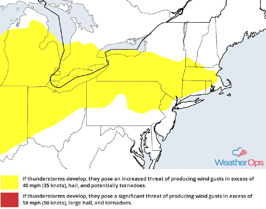 Thunderstorm Risk for Thursday, May 3, 2018