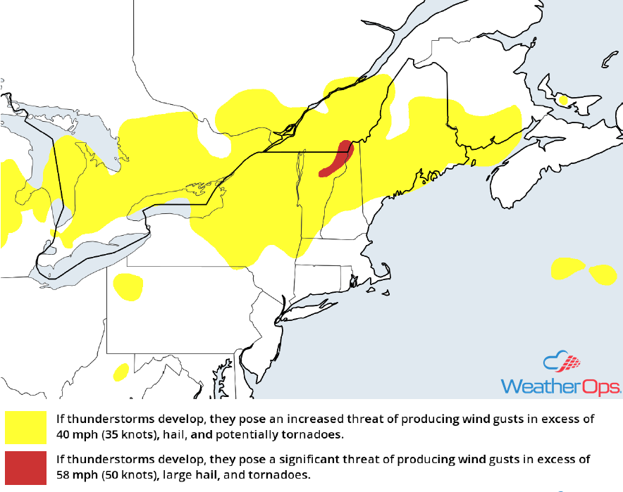 Thunderstorm Risk for Friday, May 4, 2018