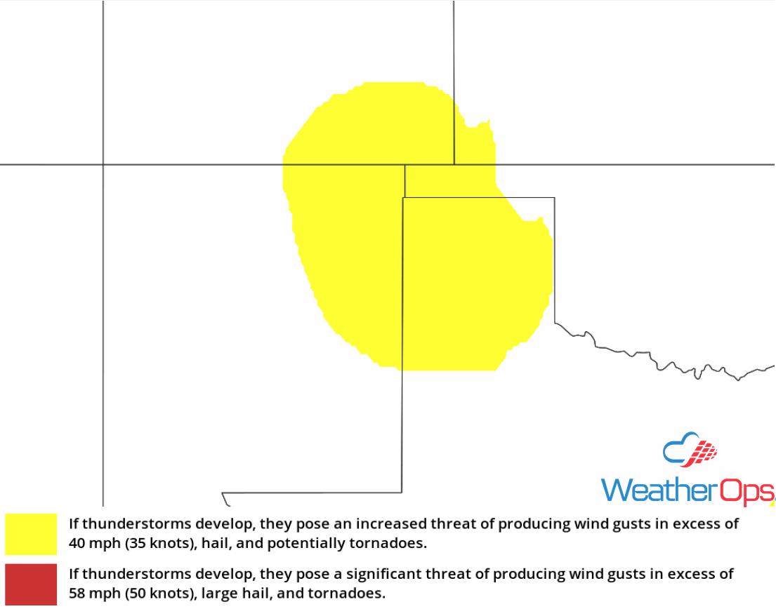 Thunderstorm Risk for Thursday, June 21, 2018