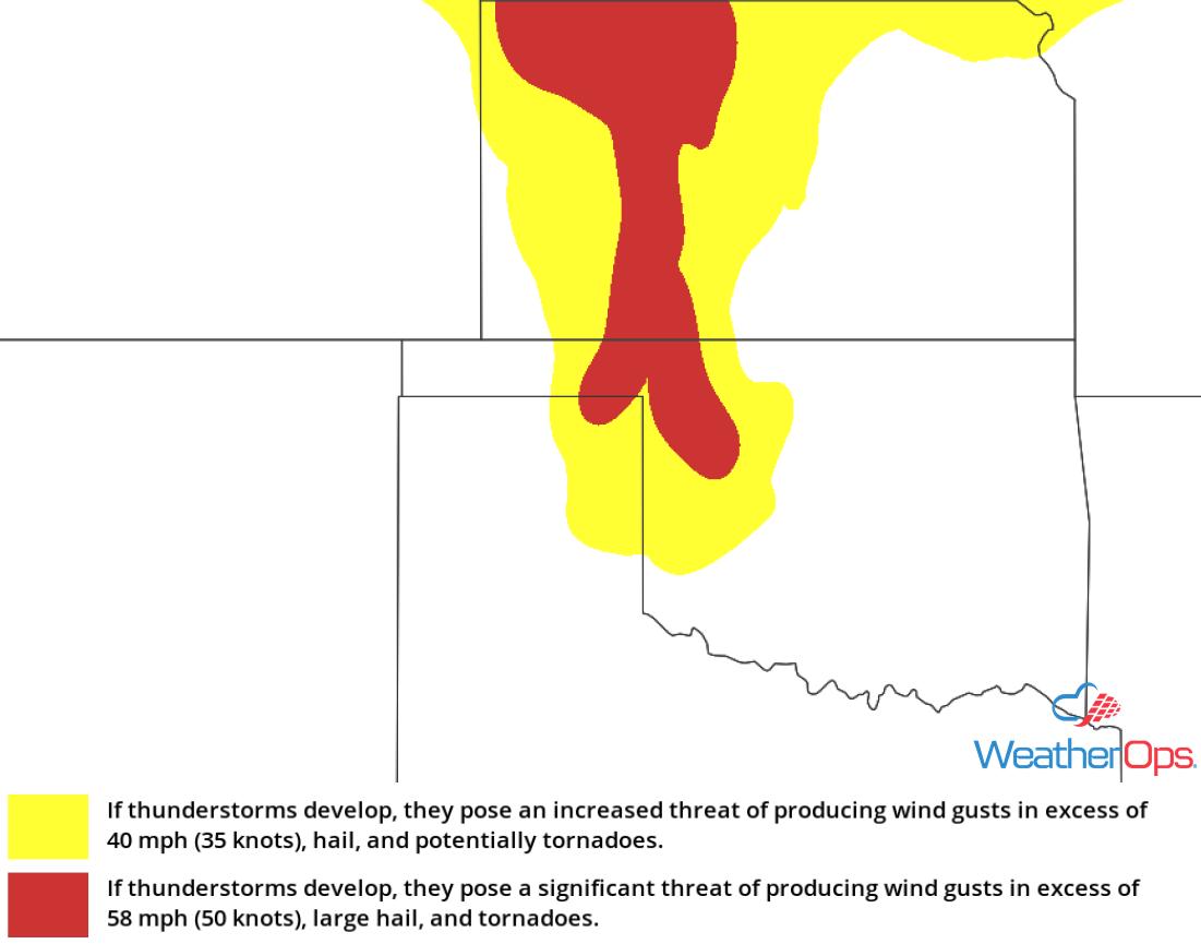 Thunderstorm Risk for Wednesday, June 6, 2018