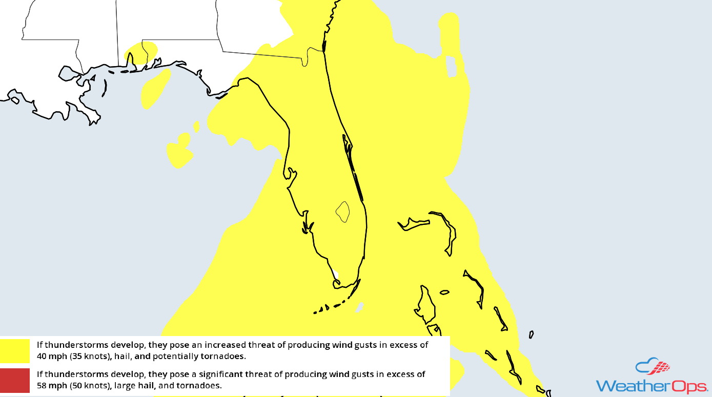 Thunderstorm Risk for Monday, May 14, 2018