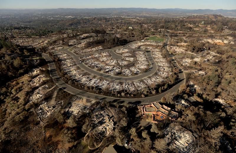 Tubbs Fire Burnt Neighborhood